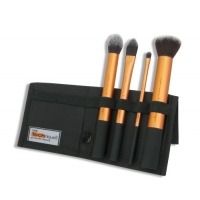 Real Techniques Core Collection Hand Cut Hair Design Makeup Brush Set