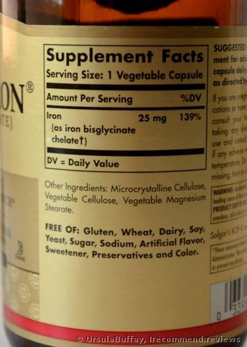 Solgar Gentle Iron, 25 MG, Vegetable Capsules Dietary Supplement