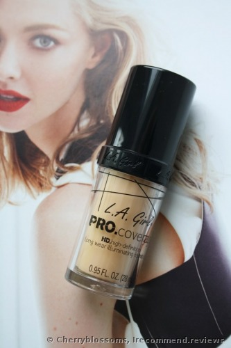 L.A. Girl PRO.Coverage HD Long Wear Illuminating Liquid  Foundation