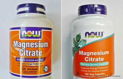 Now Magnesium Citrate Dietary Supplement