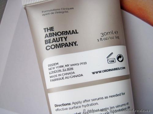 The Ordinary Natural Moisturizing Factors + HA Cream