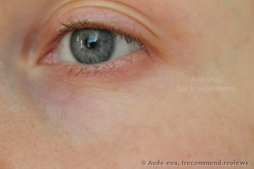 Naked skin, only with some eye cream