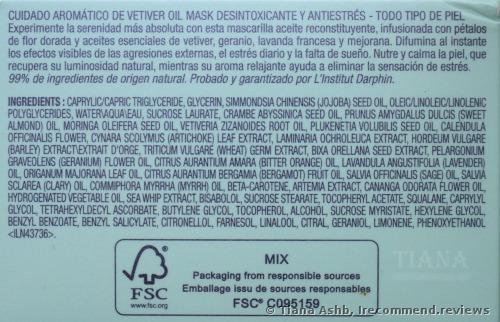 Darphin Vetiver Stress Relief Detox Oil Mask