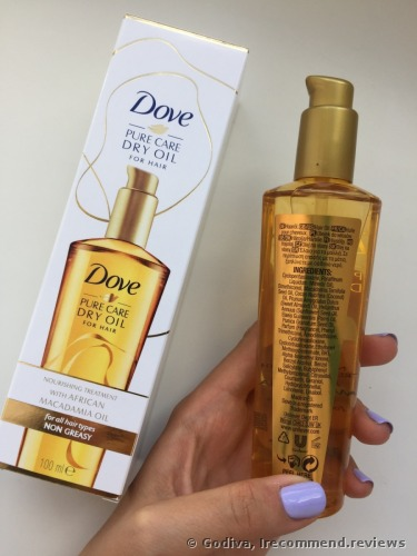 Dove  Pure Care Dry Nourishing Treatment Oil