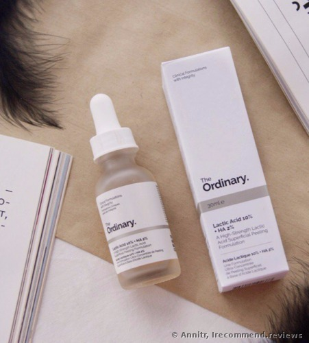 The Ordinary Lactic Acid 10% +HA 2% Serum