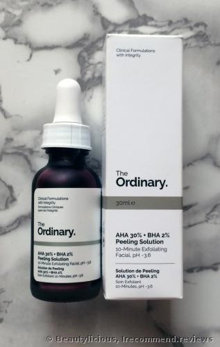 The Ordinary AHA 30% + BHA 2% Peeling Solution 10-minute Miracle Exfoliating Facial Mask