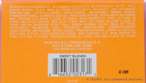 Lime Crime Plushies Sweet Blends