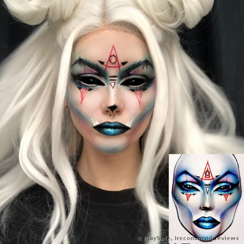 One more creative makeup inspired by a famous makeup artist