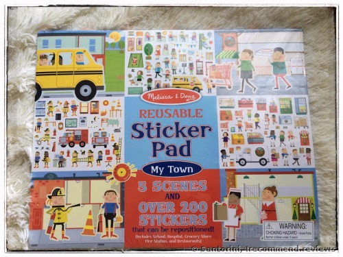 Melissa & Doug Reusable Sticker Pad: My Town Kids' Stickers