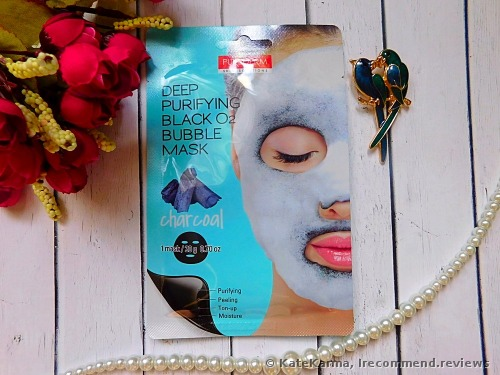 Purederm Deep Purifying Black O2 Bubble Charcoal Facial Mask