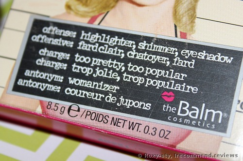The Balm Mary-Lou Manizer Highlighter
