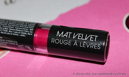 NYX Velvet Matte Lipstick