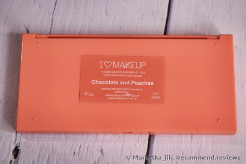 Makeup Revolution I Heart Makeup Chocolate And Peaches Eyeshadow Palette