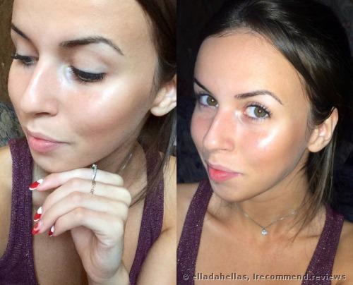 highlighter on the cheekbones + some bronzer. Daylight > flashlight