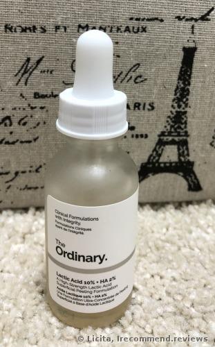 The Ordinary Lactic Acid 10% +HA 2% Serum