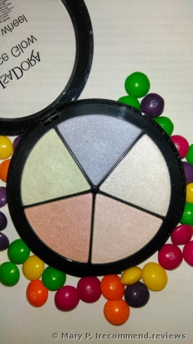 IsaDora Face Glow Prisma Wheel 50 Rainbow Highlights