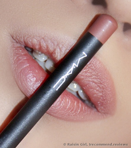 the lip pencil is applied only on one side of my lips