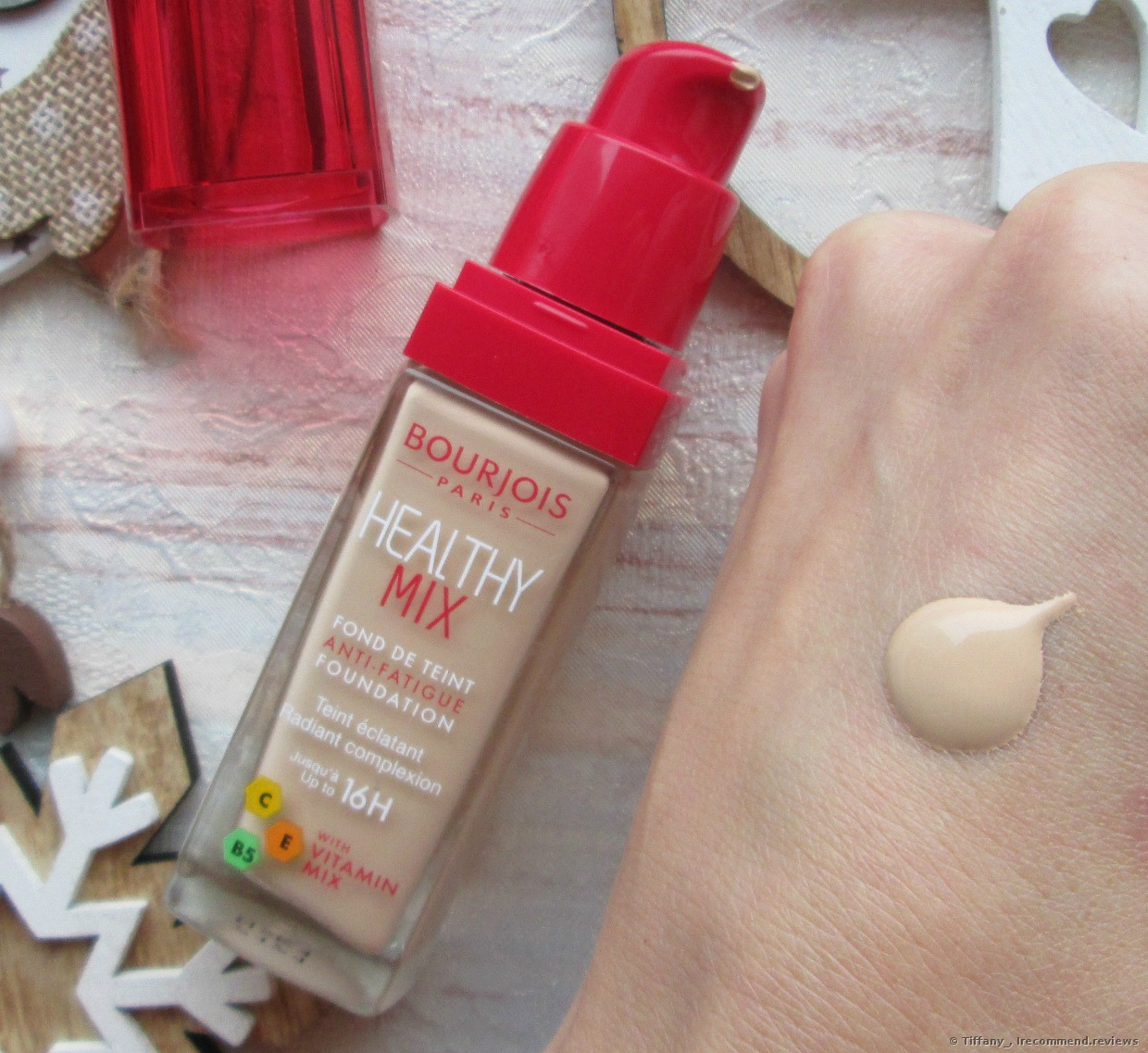 Bourjois Paris Healthy Mix Anti Fatigue And Radiance Reveal Foundation This Foundation Feels Like My Second Skin And Has Fruit Extracts And Vitamins In The Ingredients It Moisturizes My Skin Conceals Blemishes
