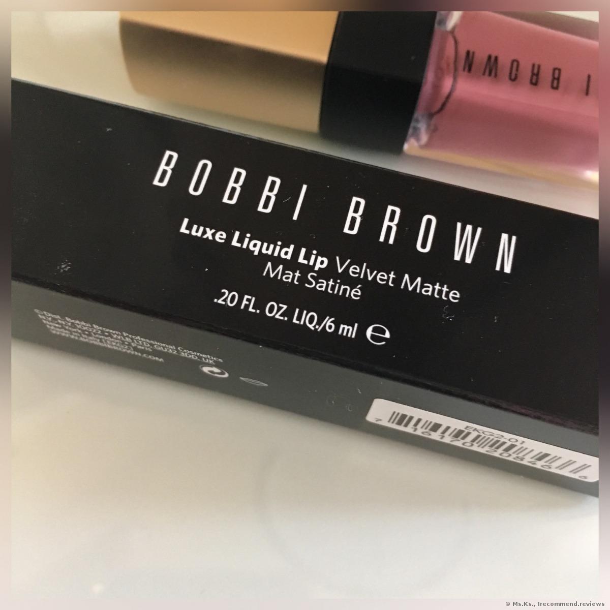 Bobbi Brown Luxe Liquid Lip Velvet Matte Lipstick Shades Double